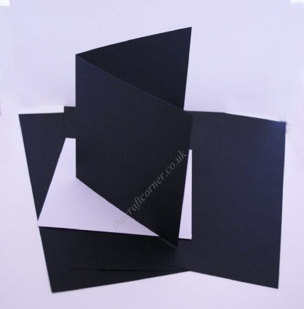 5 Black Blank Cards & Envelopes from Craft UK Ltd
